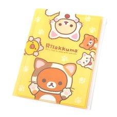 Rilakkuma Motto Nonbiri Neko 6+1 Pocket Clear File Folder