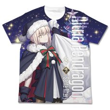 Fate/Grand Order Rider/Altria Pendragon [Santa Alter] Full-Color White T-Shirt