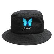 LISTEN FLAVOR 2021 Anniversary Collection Morpho Embroidered Black Bucket Hat