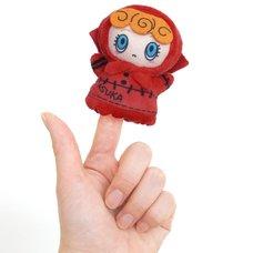 Puppela Evangelion Asuka Finger Puppet Plush