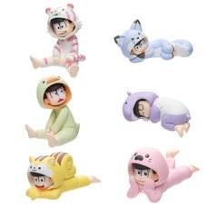 Palmate Petite Osomatsu-san Animal Pajamas Ver. Trading Figures Box Set