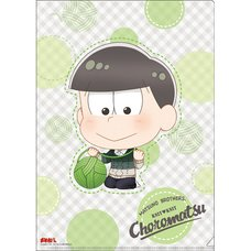 Osomatsu-san Knitting Wool Choromatsu Clear File