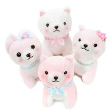 Mameshiba San Kyodai Fluffy Sakura-Colored Dog Plush Collection (Standard)