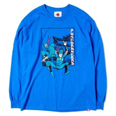 [PDS x Kinnikuman] The Ninja & Aitsu Blue Long Sleeve T-Shirt