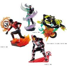 Petitrama Series Kamen Rider Legend Rider Memories Set