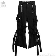 LISTEN FLAVOR Bondage Cargo Pants w/ Chain Suspenders
