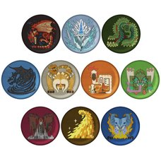 Monster Hunter: World Embroidered Pin Badge Collection Vol. 2 Box Set
