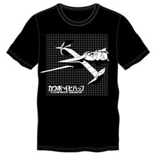 Cowboy Bebop Grid Men's Black T-Shirt