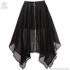 LISTEN FLAVOR Center Zip Hemline Skirt