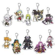 Pikuriru! Fate/Grand Order Trading Acrylic Keychain Charms Vol. 5 Box Set (Re-run)