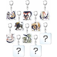 Monster Hunter Rise Monster Icon Acrylic Strap Collection Vol. 2 Box Set