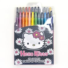 Hello Kitty Daisy 24C Twist-Up Crayon Set