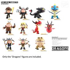 """How to Train Your Dragon  6"""" Action Vinyls - Dragons (w/ LED & SFX)"""