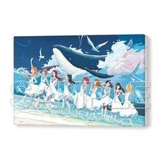Love Live! Sunshine!! Aqours 5th Anniversary Special Tribute Illustration Canvas Art