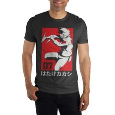 Naruto Kakashi Red Background Men's Tee