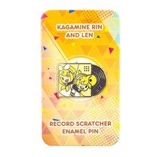 Kagamine Rin & Len Record Scratcher Enamel Pin