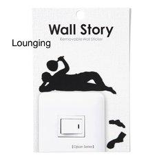 Ojisan Series Wall Story Wall Stickers