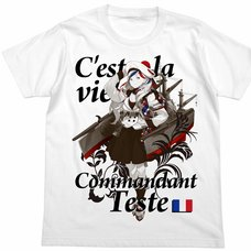 Kantai Collection -KanColle- Commandant Teste White T-Shirt