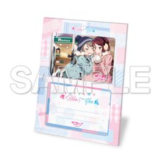 Love Live! Sunshine!! Nakayoshi Riko & You Photo Stand w/ Bromide