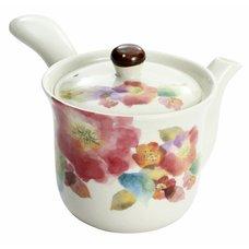 Hana Ozato Mino Ware Camellia Sasanqua Small Teapot
