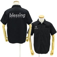 Saekano: How to Raise a Boring Girlfriend Flat Blessing Software Black Work Shirt