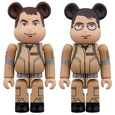 BE@RBRICK Ghostbusters Raymond Stantz & Egon Spengler 100% 2-Pack