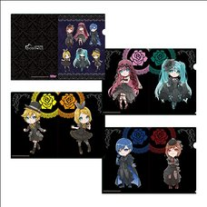 Hatsune Miku Vampire Fes Chibi Ver. A4-Size Clear File Set