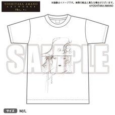 Bushiroad x Yoshitaka Amano Artworks Monochrome Illustration T-Shirt 02