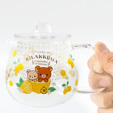 A Basketful of Lemons Rilakkuma Heat-Resistant Glass Pot