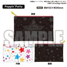 BanG Dream! Girls Band Party! Poppin'Party Synthetic Leather Multi Pouch