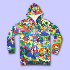 NUEZZZ Battle Night All-Over Print Hoodie