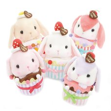 Pote Usa Loppy Cupcake Rabbit Plush Collection (Standard)