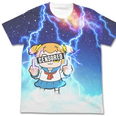 Pop Team Epic Thunder Popuko Graphic White T-Shirt