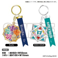 BanG Dream! Roselia x RAISE A SUILEN Stained Glass Style Keychain (Re-run)