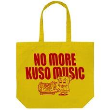 Pop Team Epic No More Kuso Music Yellow Large Tote Bag