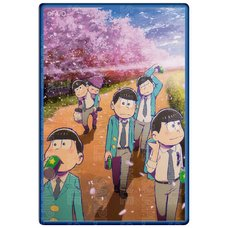 Osomatsu-san Cherry Blossoms Street Ver. Badge