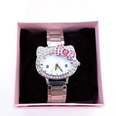 Hello Kitty Rhinestone Face Wristwatch