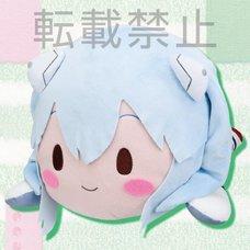 Mega Jumbo Lying Down Plush Evangelion Rei Ayanami: Plugsuit Ver. feat. Sangatsu Youka