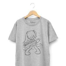 Hatsune Miku First Sound from the Future Keytar Heather Gray T-Shirt