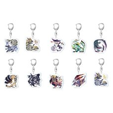 Monster Hunter Rise Monster Icon Acrylic Strap Collection Vol. 3 Box Set