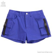 LISTEN FLAVOR Purple Cargo Shorts