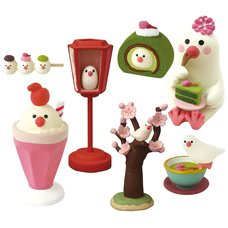 concombre Java Sparrow Tea House Diorama Collection