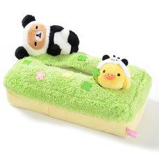 Rilakkuma Panda de Goron Plush Tissue Box Cover