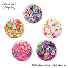 6%DOKIDOKI Sebastian Masuda Colorful Rebellion Seventh Nightmare Badge Collection