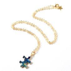 Osewaya Celestial Puzzle Piece Necklace