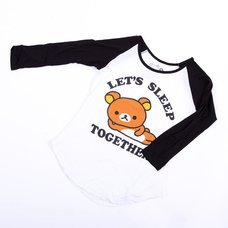 "Rilakkuma ""Let's Sleep Together"" Long Sleeve T-Shirt"
