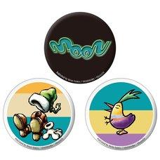 moon Mini Pin Badge Set