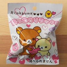 Rilakkuma Bath Powder Ball & Mini Figure (Hearts)