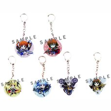 Magical Girl Lyrical Nanoha: Reflection Acrylic Keychain Charm Set Collection