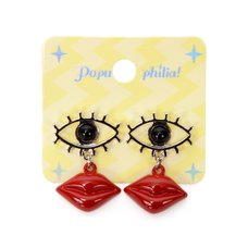 Popuphilia! Eyes + Lips Pierced Earrings
